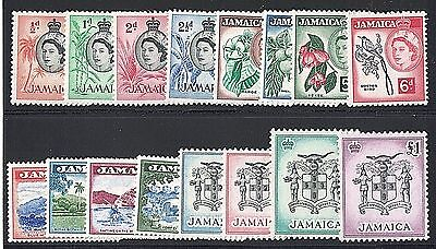 Jamaica 159-74 1956 Island Scenes & Jamaican Coats of Arms Set of 16 Mint/VF/LH
