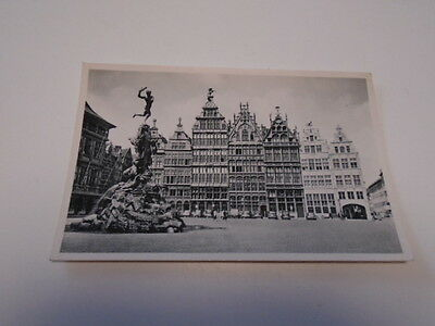 """Cp Ancienne"""" Anvers   """" Grand Place Et Monument Brabo"""""""