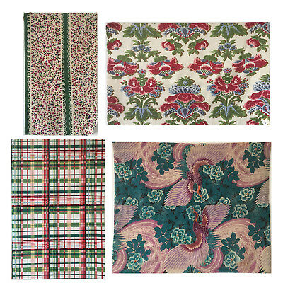 Interesting Vintage 20th C. Fabric Collection from France, Italy & Japan (2220)