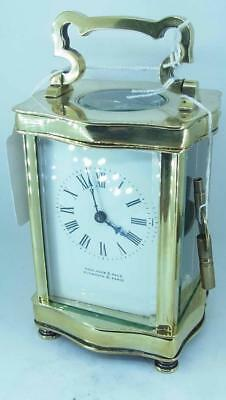 A Nice Working Brass Carriage Clock by Page & Keen Plymouth & Paris
