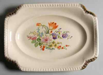 "Salem RUST TULIP 13 1/2"" Oval Serving Platter S669611G2"