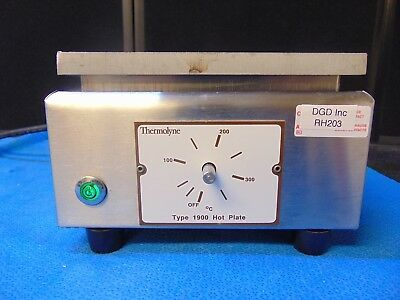 Thermolyne Type 1900 Hot Plate Model HPA-1915B Powers On And Heats Up RH203