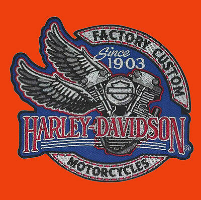 HARLEY DAVIDSON Factory Custom Engine with Wings  HARLEY PATCH