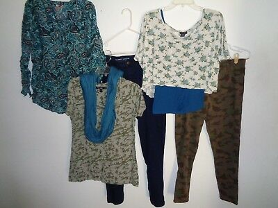 Big Lot Of Clothes Camo Jeans Wet Seal Old Navy Tops Outfits Womens Size L 12-14