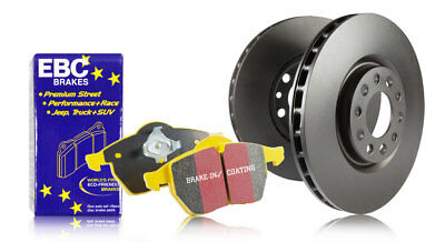 EBC Rear Brake Discs & Yellowstuff Pads VW Eos 2.0 TD (140 HP) (2006 > 14)