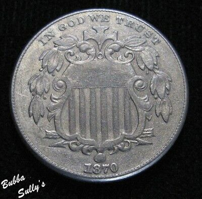 1870 Shield Nickel <> EXTREMELY FINE