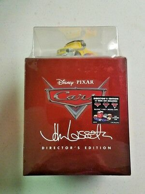 Cars - Director's Edition Box Set 3D + Blu-ray + DVD + Digital, 11-Discs NEW