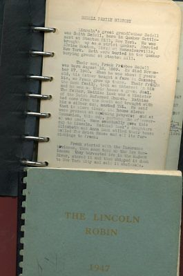 Genealogy-History Abner Lincoln Robin 1947-Smith Bedell-Quaker-Stanton Hill NY