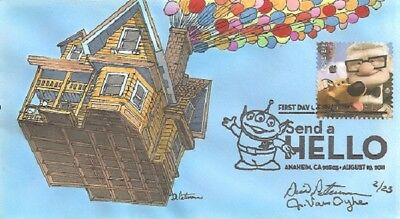 "Peterman Hand Painted Balloon House Send a Hello ""UP"".First Day Cover"