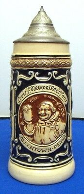 "Neuweiler Beer Stein ""Monk Stein"" Allentown Pennsylvania Germany RARE - 1 of 3"