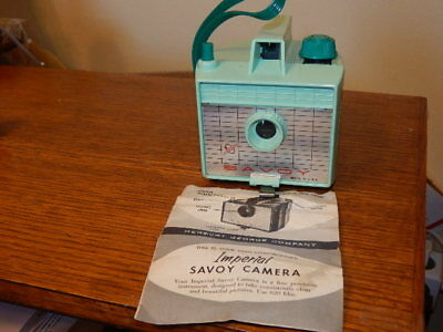 1960's Savoy camera turquoise color orig instructions w/Mercury-Comet mail box
