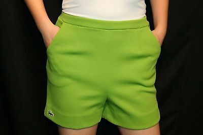 S~M Green Knit VTG 70s Haymaker Izod Lacoste Alligator Logo Golf Shorts Pants