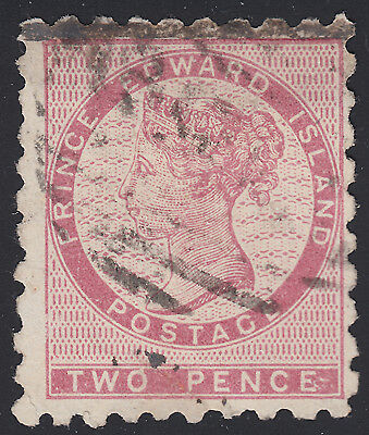 PEI 2d QV deep rose, Scott 1a, F-VF used (note), catalogue - $325