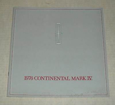 1976 Lincoln Continental Mark Iv Advertising Auto Sales Dealership Brochure