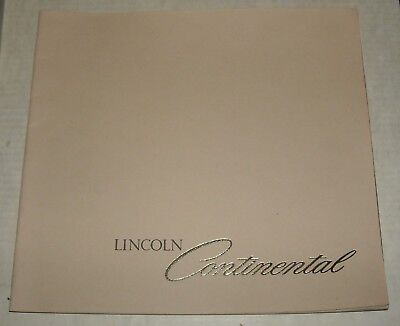 1978 Lincoln Continental Luxury Sedan Advertising Auto Sales Dealership Brochure