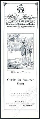 1930 Brooks Brothers sportcoat bocce lawn bowling ball art vintage print ad