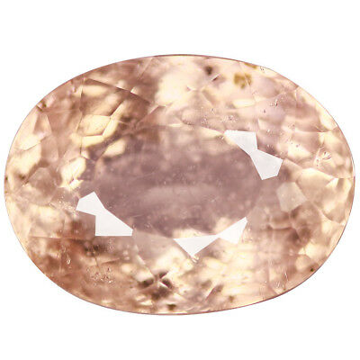 7.02 Ct Topnotch  Oval cut 13 x 10 mm Lot Top Luster Pink Morganite