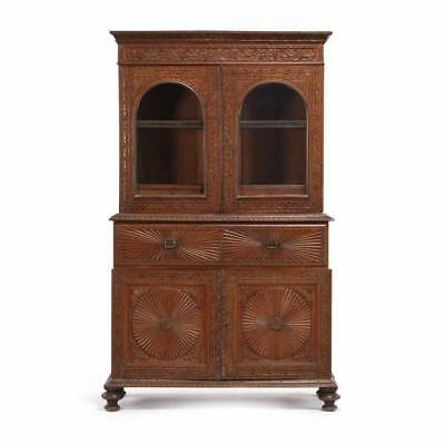 British Colonial Anglo-Indian Secretary Bookcase Lot 332