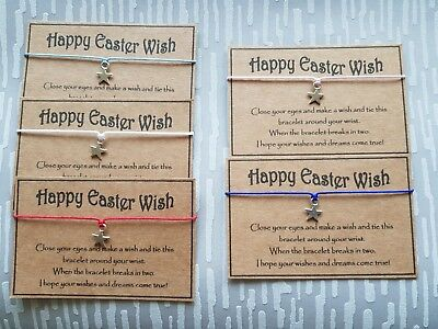 Wholesale * Job Lot Bulk * Happy Easter Wish * Wish Bracelet * Friendship * Gift