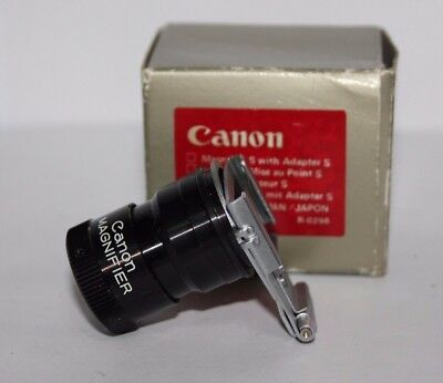 CANON Magnifier S with Adapter S Fits  AE-1 ( & Program )  A-1 Etc Cameras