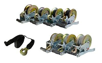 Manual Hand Winch Boat Trailer Caravan Strap Cable 6M 12M 20M Marine Pull New