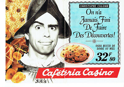 Caféteria Casino Publicité Advertising 1991 2 Pages