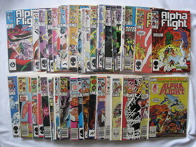 ALPHA FLIGHT Vol 1 : COMPLETE classic RUN of #s 1 - 50 by JOHN BYRNE.MARVEL.1984