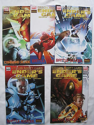Ender's Game : Battle Game, Complete 5 Issue Series. Card.video Game.marvel.2008