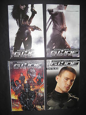 G.I.JOE : The RISE of COBRA : COMPLETE 4 ISSUE SERIES. MOVIE. 1,2,3,4. DDP. 2009