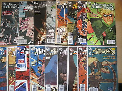 GREEN ARROW & BLACK CANARY #s 1 - 18 COMPLETE (except 10) bY WINICK etc. DC 2007