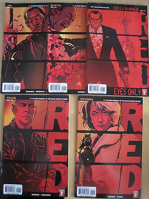 Red (Movie) :complete 5 Issue Series :frank,victoria,marv,joe+ Cully Hamner.2010