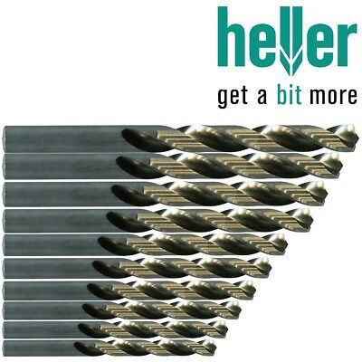 10x HELLER HSS-G GROUND DRILL BITS 0.2mm-13mm Jobber Steel Sheet Metal Drilling