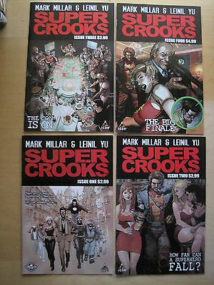 SUPER CROOKS : COMPLETE 4 ISSUE SERIES by MARK MILLAR & LEINIL YU. ICON 2012