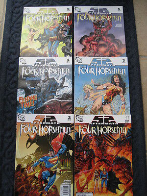 The FOUR HORSEMEN -COMPLETE SET of 6 by GIFFEN & OLLIFFE. 52 AFTERMATH. DC. 2007