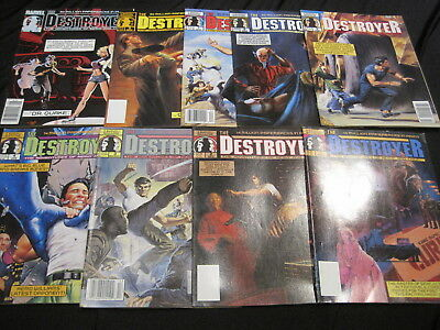 The DESTROYER : COMPLETE 9 ISSUE CLASSIC 1989 MARVEL B & W MAGAZINE SERIES