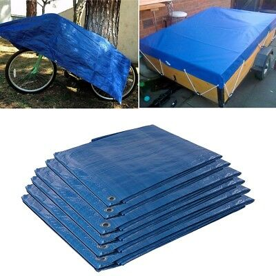HEAVY DUTY TARPAULIN Blue Tarp Sheet Waterproof Ground Cover Tent Camping Army