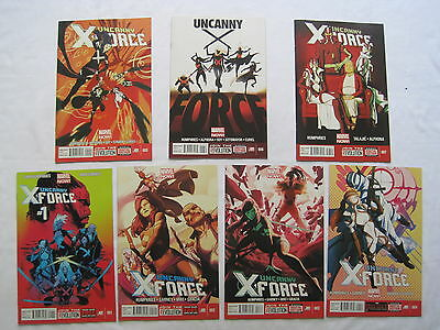 UNCANNY X-FORCE #s 1,2,3,4,5,6,7 complete by HUMPHRIES & GARNEY. MARVEL NOW.2013