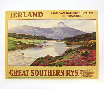 IERLAND – GREAT SOUTHERN RYS., Original Travel Poster, Walter Till, ca.1930