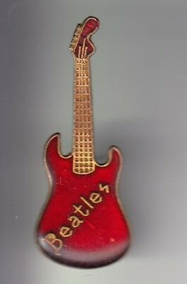 Rare Pins Pin's ..  Musique Music Rock Pop The Beatles Guitare Basse Rouge ~Dq