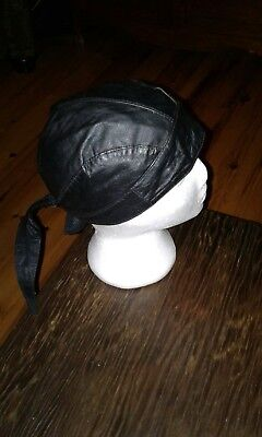 Motorcycle Leather Skull Cap - Brand New