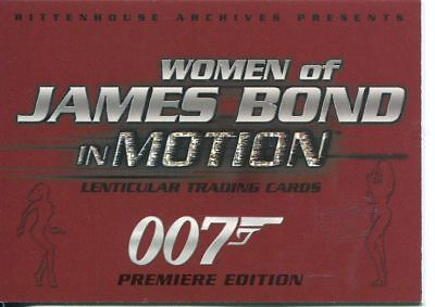 James Bond Women In Motion Promo Card P2
