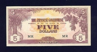The Japanese Government Five Dollar Banknote.