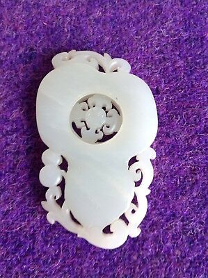 A White Jade Articulated Pendant - Antique Chinese Jade circa 1900
