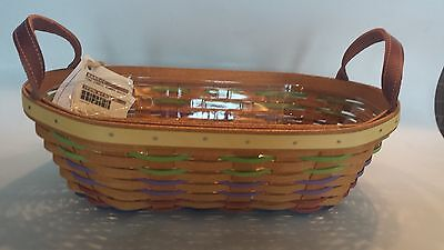 Longaberger Simply Summer Oval Basket and Protector - MINT - IN HAND  NEW 2015