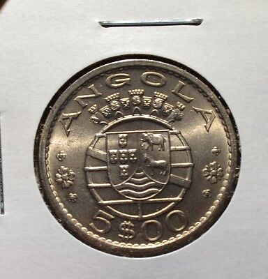 Angola 5 Escudos 1972 – BU Coin Portuguese Colonial – Lovely Condition - Ang17