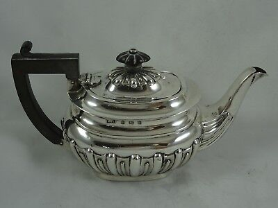 EDWARDIAN solid silver BACHELORS TEA POT, 1902, 302gm