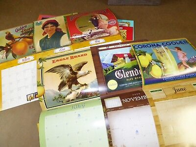 18 Different Crate Label Calendars 1980-2017 Pomona Federal 216 Images Framable