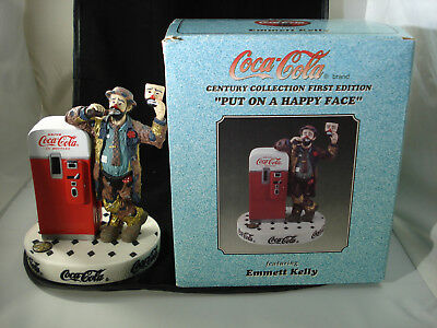 """Coca Cola Emmett Kelly Century Collection """"Put on a Happy Face"""" figurine 1997"""
