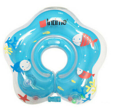 Baby Infant inflatable Swimming Float Neck Ring for Bath or pool 0-18 Month blue