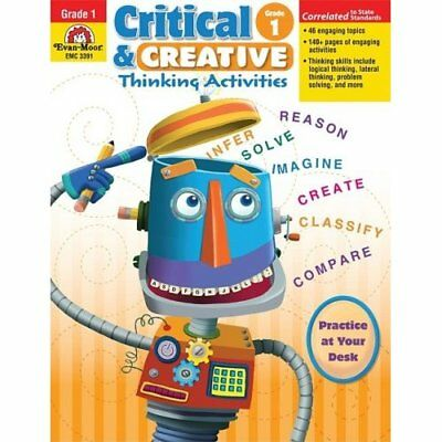Critical and Creative Thinking Activities, Grade 1 - Paperback NEW Evan-Moor Edu